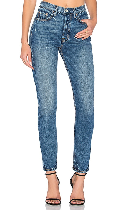 GRLFRND x REVOLVE PETITE Karolina High-Rise Skinny Jean in Close To You