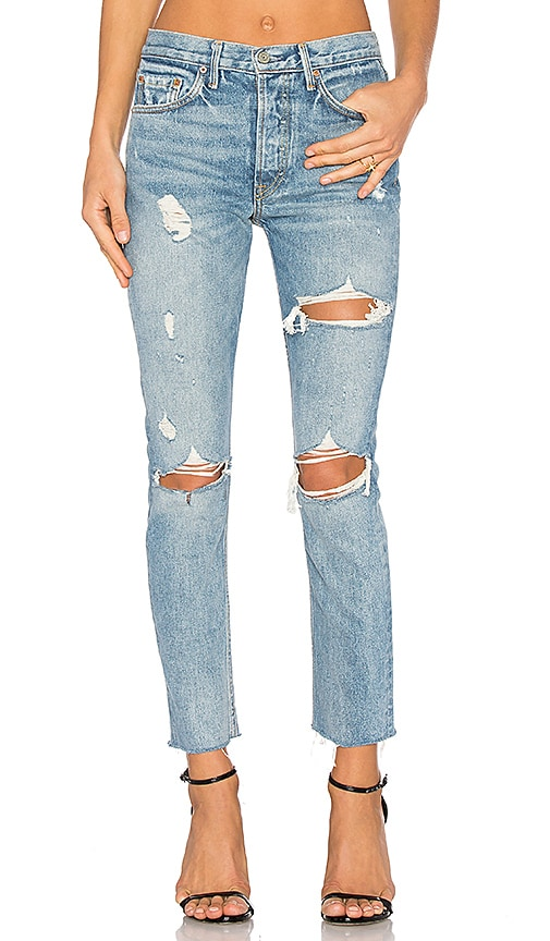 GRLFRND x REVOLVE PETITE Karolina High-Rise Skinny Jean in A Little More Love