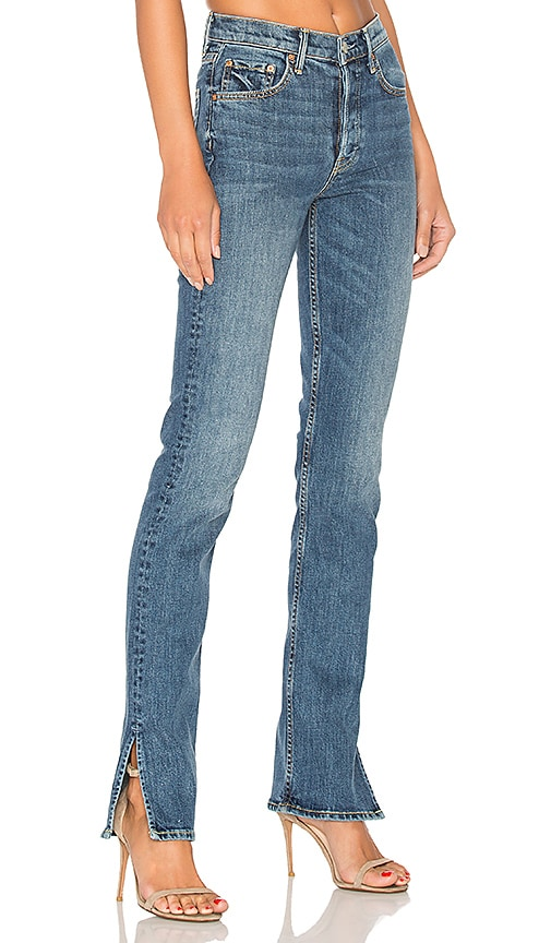 GRLFRND Natalia High-Rise Skinny Split Jean in Denim Medium