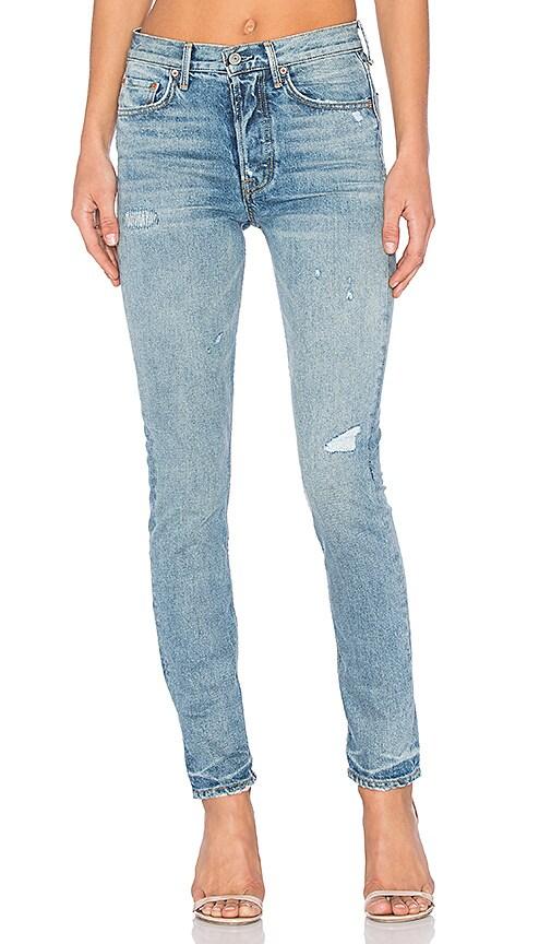 GRLFRND x REVOLVE Karolina High-Rise Skinny Jean in Midnight Cowboy