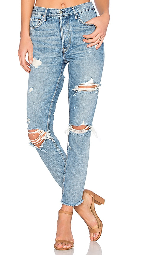 Karolina High-Rise Skinny Jean with Butt Slit