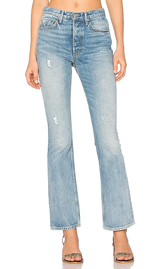 GRLFRND x REVOLVE Sunny Vintage Skinny Flare Jean in Mandy