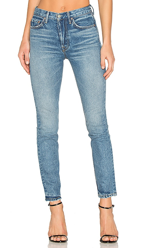 GRLFRND x REVOLVE Karolina High-Rise Skinny Jean in Green-Eyed Lady