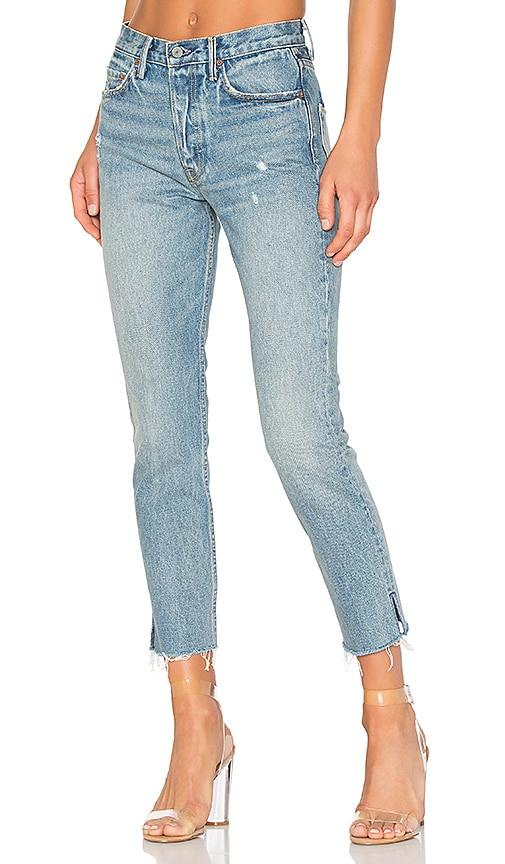 GRLFRND PETITE Karolina High-Rise Skinny Jean in Navy