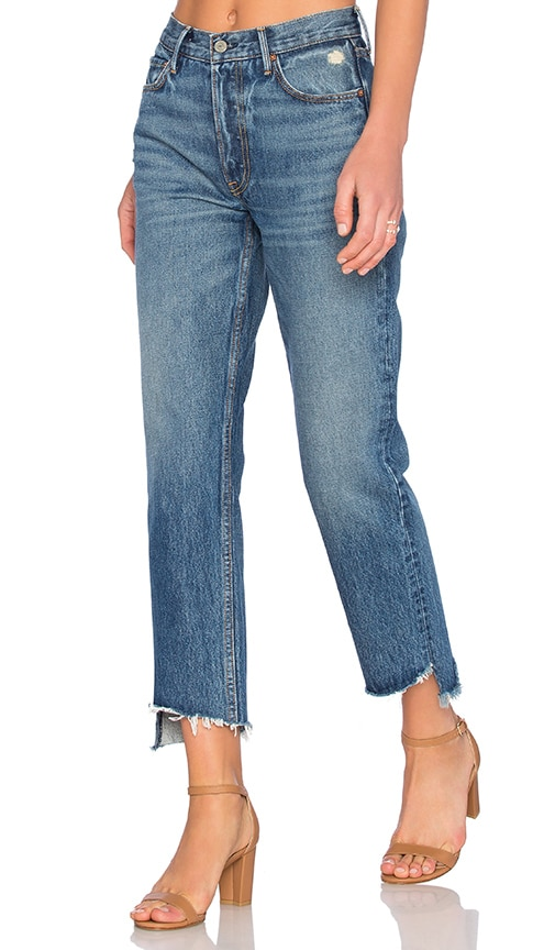 GRLFRND Helena Straight Leg Jean in Denim Medium