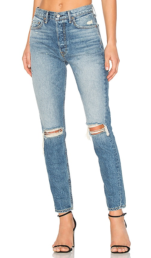 GRLFRND Karolina High-Rise Skinny Jean in Ball of Confusion