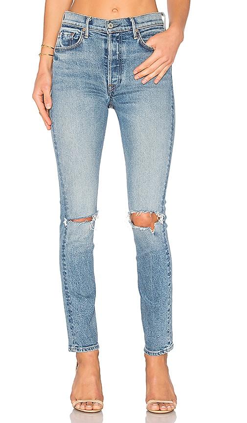 GRLFRND PETITE Karolina High-Rise Skinny Jean in What Is Life