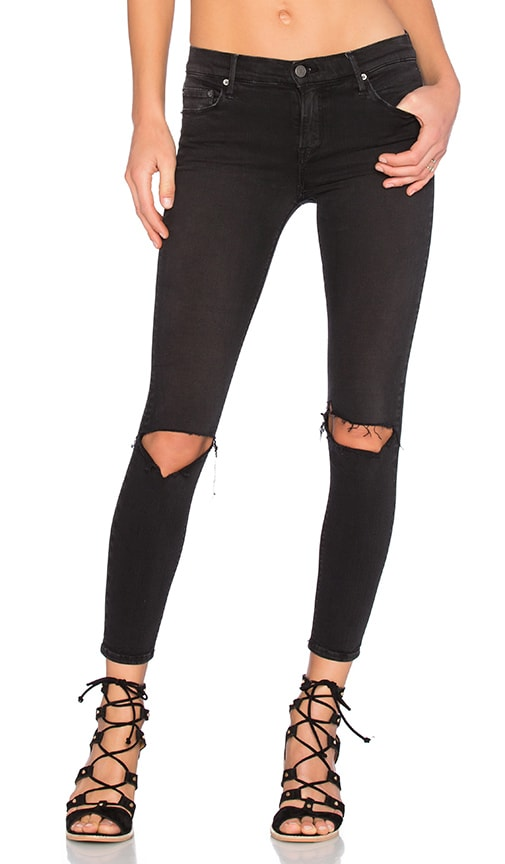 GRLFRND Candice Mid-Rise Super Stretch Skinny Jean in Love Hangover