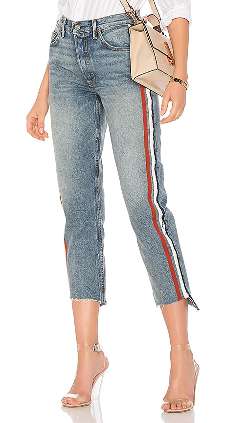 GRLFRND x REVOLVE Helena High-Rise Straight Crop Jean in Reed