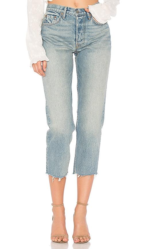GRLFRND Helena High-Rise Straight Jean in Car Wash