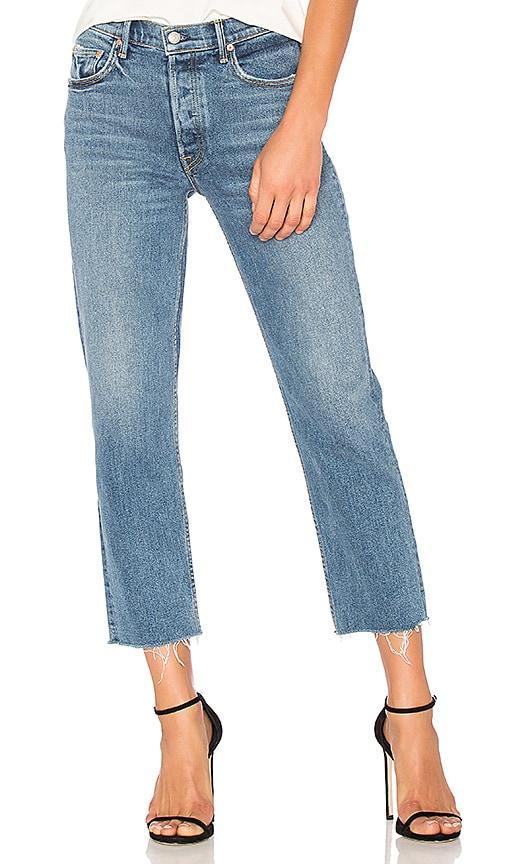 Helena High-Rise Straight Crop Jean in Black. - size 24 (also in 23,25,26,27,28,29,30,31) GRLFRND