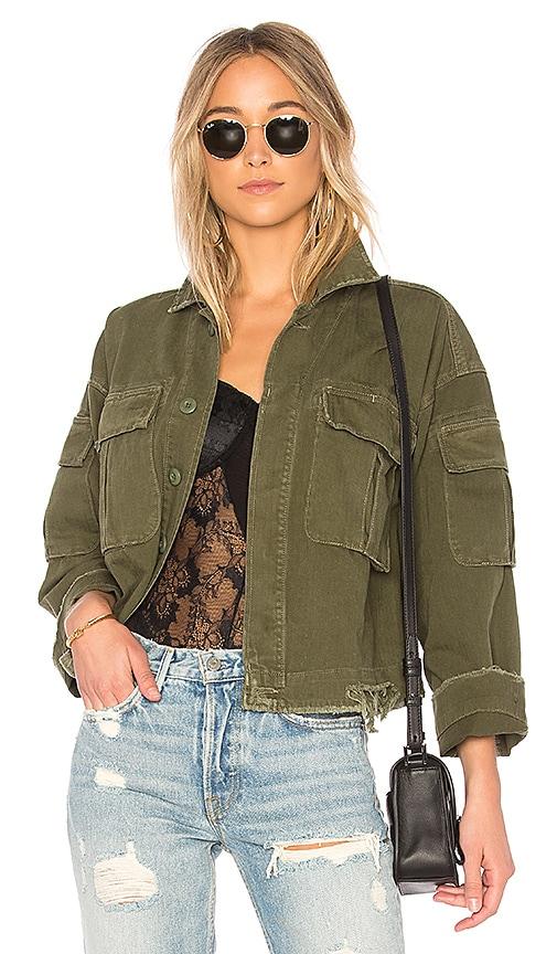 Dorian Oversized Crop Army Jacket