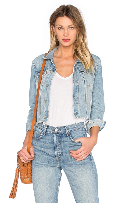 Cara Cropped Trucker Jacket