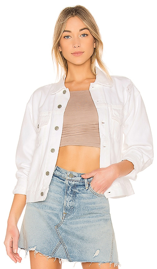 GRLFRND Kim Boyfriend Trucker Jacket in Absolute Zero