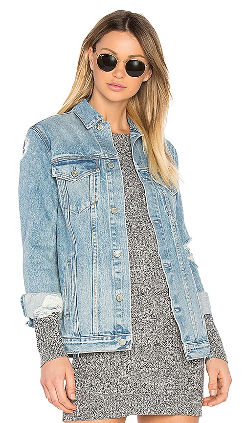 GRLFRND Daria Oversized Denim Trucker Jacket in You & I