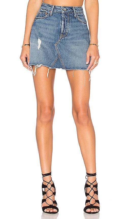 Eva Short A-Line Skirt - Md. Blue Size 29