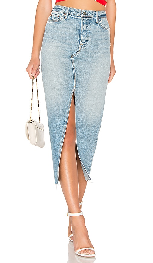 b57d98bad29674 GRLFRND Isla High-Rise Midi Skirt in Gwen | REVOLVE