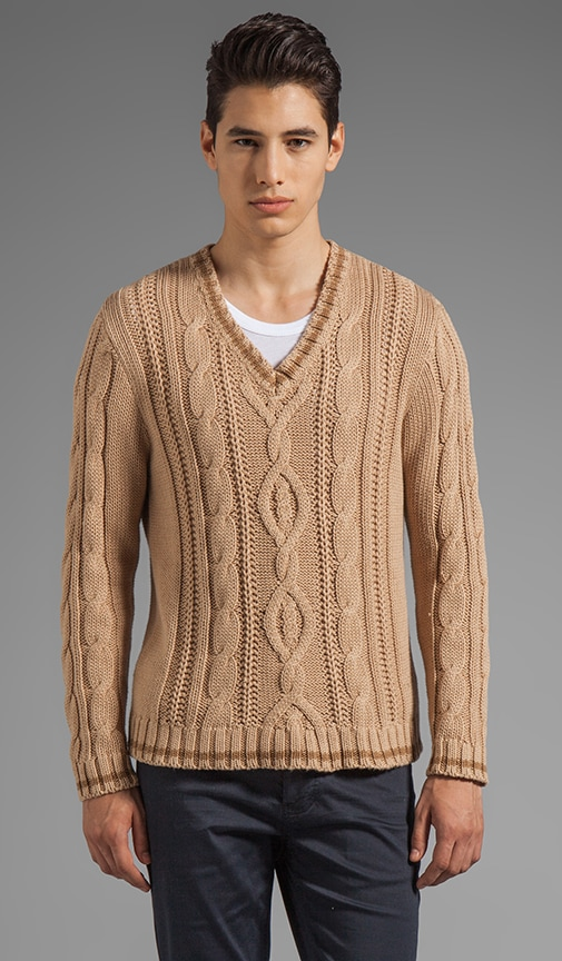 Loose Cable Knit Sweater