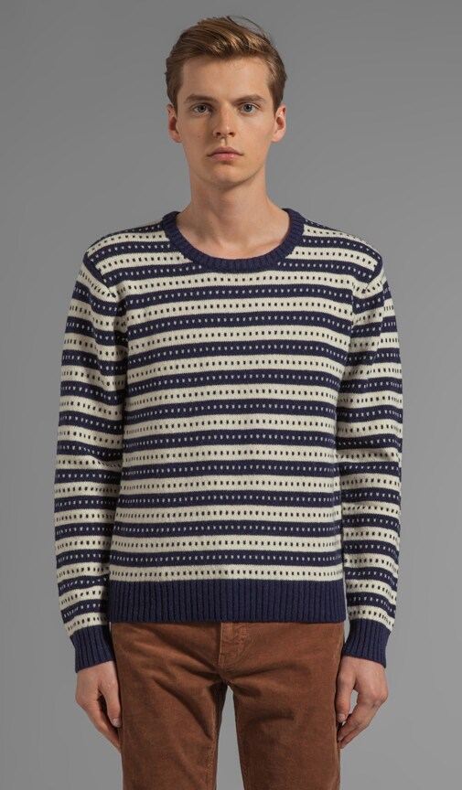 Stripe Jacquard Sweater