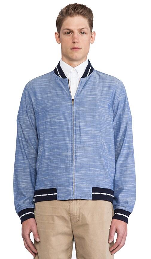 Chambray Varsity Jacket