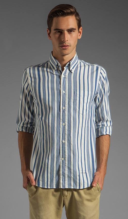 Dreamy Oxford Awning Stripe HOBD Shirt
