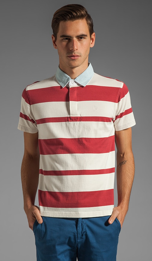 Awning Stripe Heavy Rugger Polo