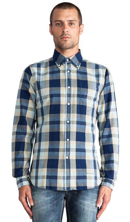 Indigo Oxford Check