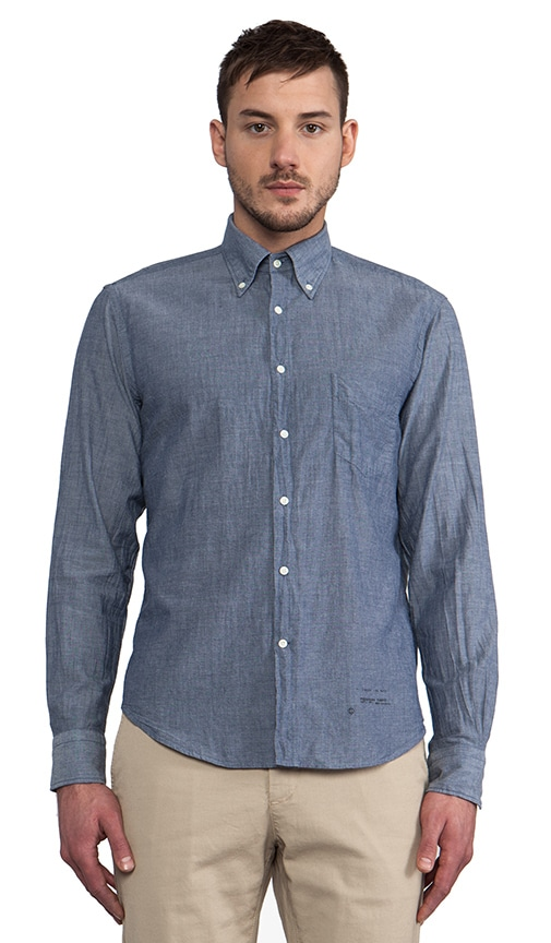 Selvage Madras Button Down