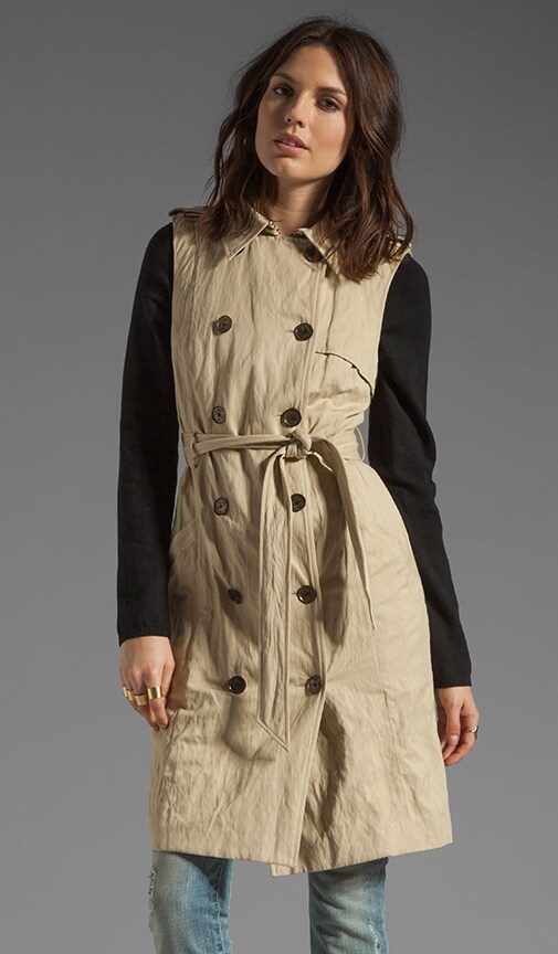 Knit Sleeve Trench