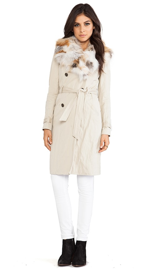Fox Plate Collar Winter Trench