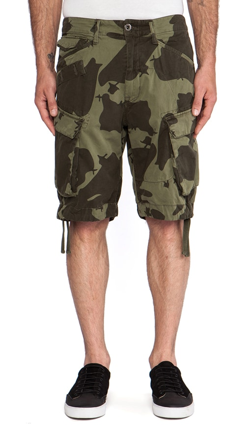 Rovic Field Loose Bermuda Border Camo