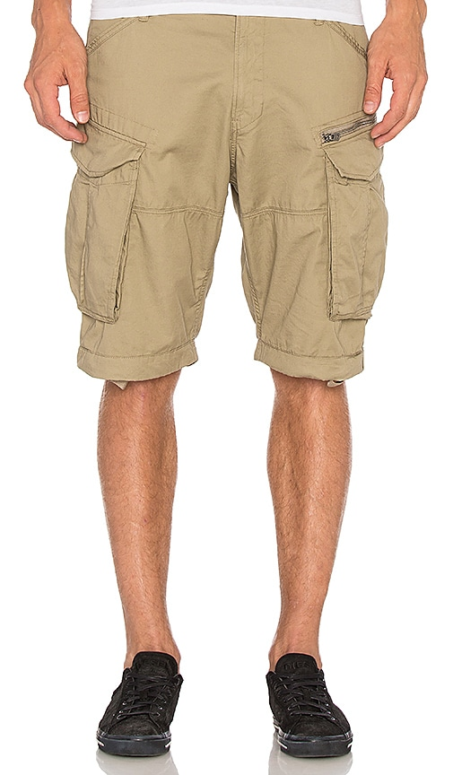 G-Star Rovic Zip Half Short in Beige