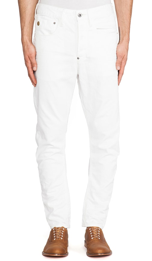 Type C Loose Tapered Format White Denim