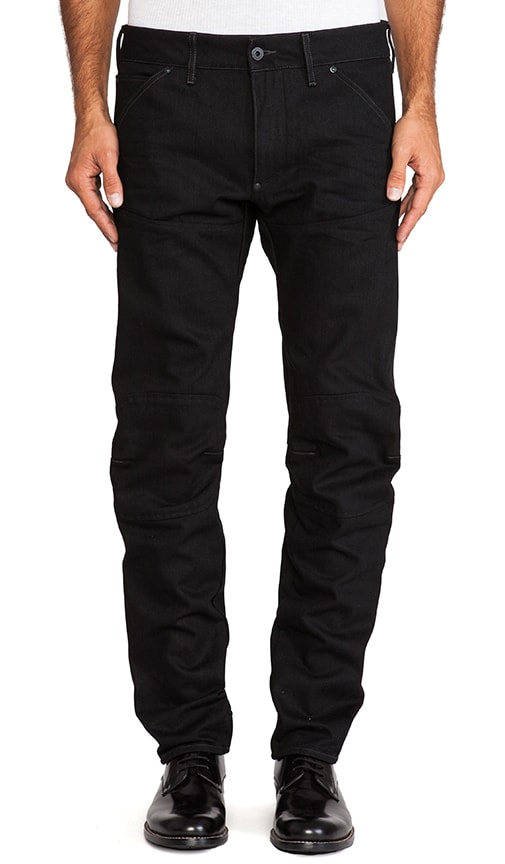 5620 3D Low Tapered Black Drig Denim