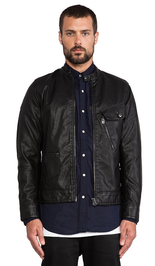 Defend Slim 3D Vegan Leather Jacket