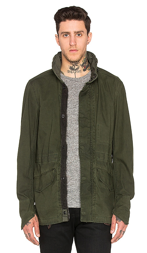 G-Star Clean Field Jacket in Sage & Bright Rovic Green OD