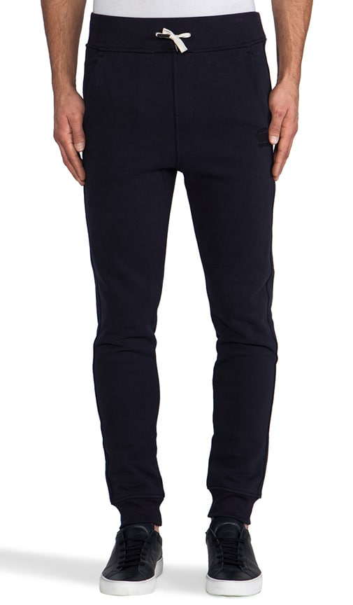 Navy Raw Sweatpant