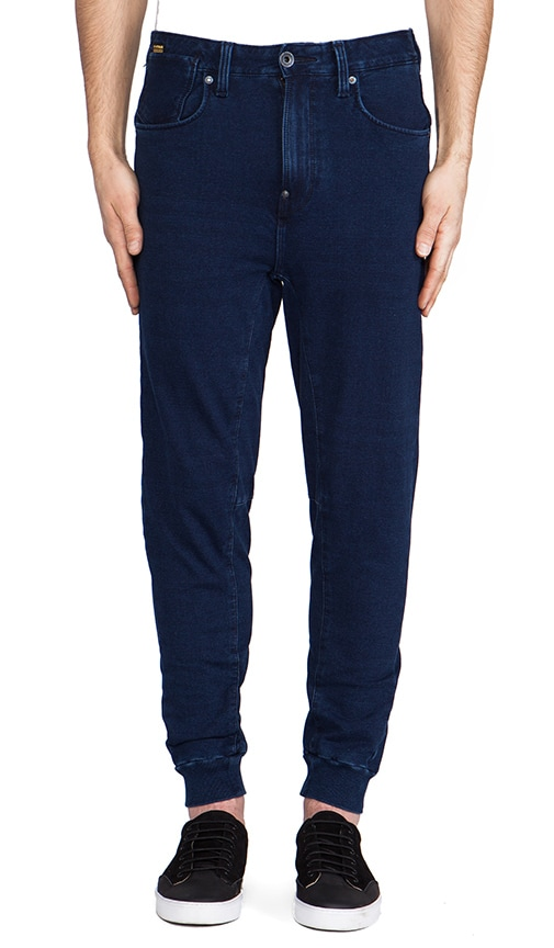 A Crotch Sweatpant Tapered Indigo Jog