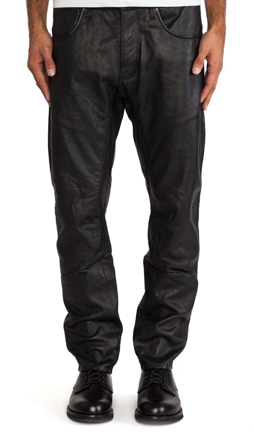 A Crotch Leather Tapered Pant