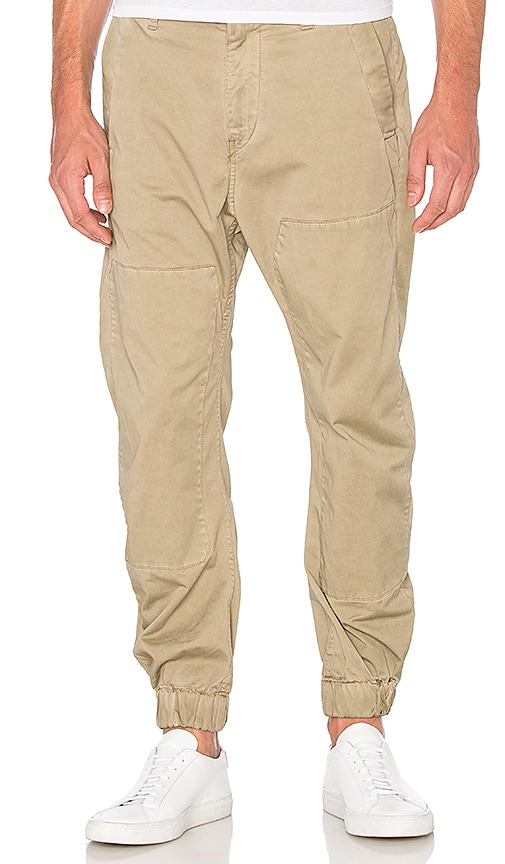 G-Star Bronson Zip Tapered Cuffed Pant in Beige