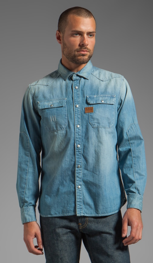 Construct Long Sleeve Denim Shirt