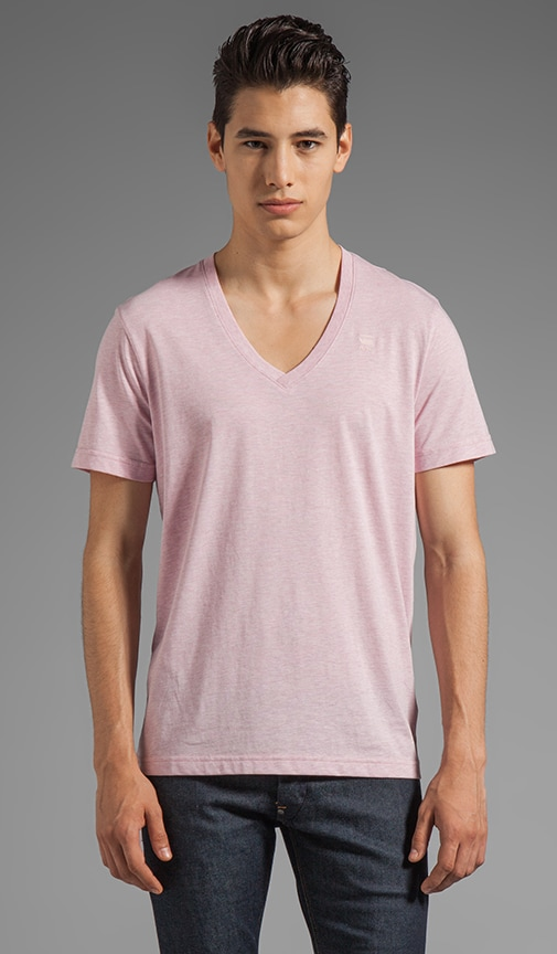Correct Base Heather V Neck Tee