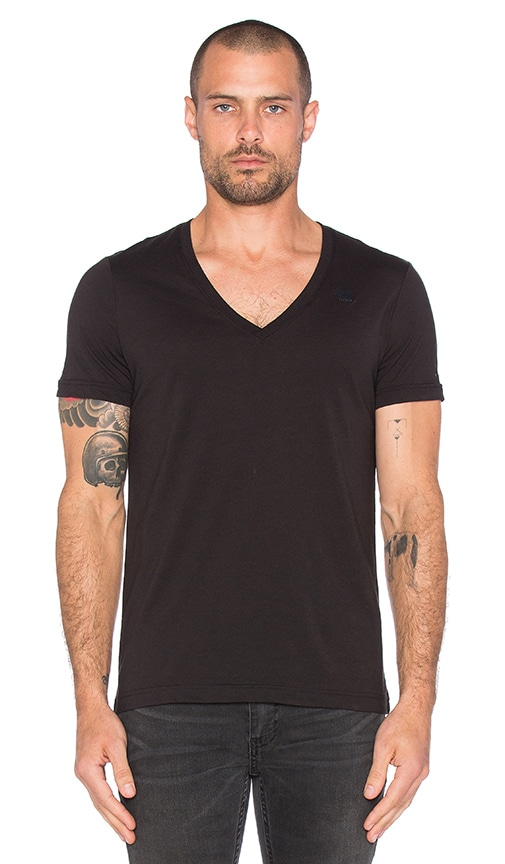 G-Star 2 Pack V-Neck Tees in Black