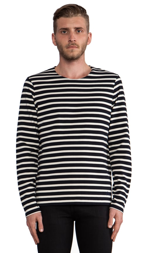 Chevron R T Long Sleeve Cannes Stripe