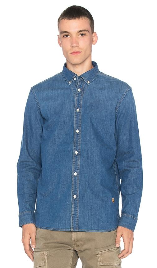 G-Star Core Shirt in Medium Indigo Aged