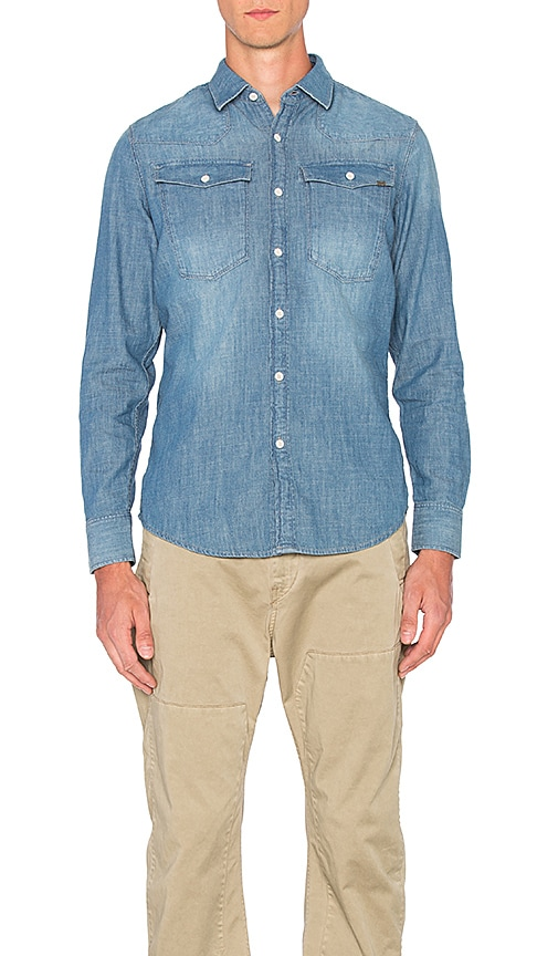 G-Star 3301 Long Sleeve Shirt in Light Aged
