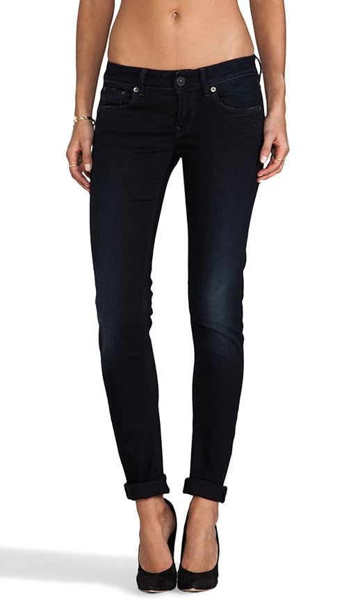 3301 Skinny in Comfort Black Veli