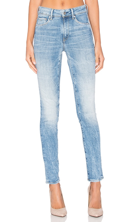 G-Star 3301 Ultra High Super Skinny Jean in Light Aged