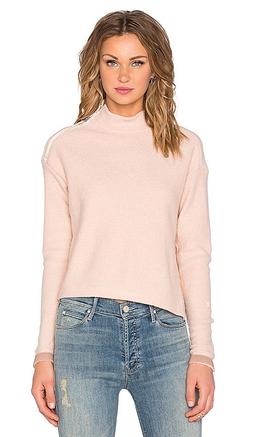 G-Star Aeronotic Short Turtleneck Sweater in Dark Peony Pink