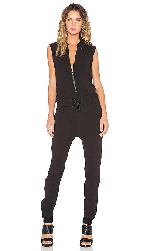 g star tatum 3d tapered jumpsuit in black revolve. Black Bedroom Furniture Sets. Home Design Ideas